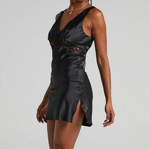 NWT Lioness Dakota black mini dress, size medium